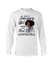 January Girl Living Her Best Life Long Sleeve Tee thumbnail