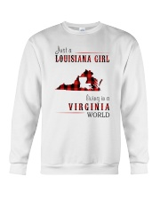 JUST A LOUISIANA GIRL IN A VIRGINIA WORLD Crewneck Sweatshirt thumbnail