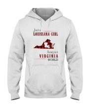 JUST A LOUISIANA GIRL IN A VIRGINIA WORLD Hooded Sweatshirt front
