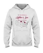 MICHIGAN NORTH DAKOTA THE LOVE MOTHER AND SON Hooded Sweatshirt thumbnail