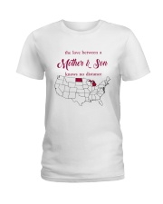 MICHIGAN NORTH DAKOTA THE LOVE MOTHER AND SON Ladies T-Shirt thumbnail