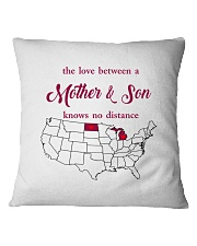 MICHIGAN NORTH DAKOTA THE LOVE MOTHER AND SON Square Pillowcase thumbnail