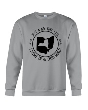 NEW YORK GIRL LIVING IN OHIO WORLD Crewneck Sweatshirt thumbnail
