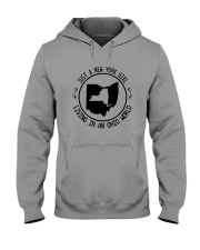 NEW YORK GIRL LIVING IN OHIO WORLD Hooded Sweatshirt front