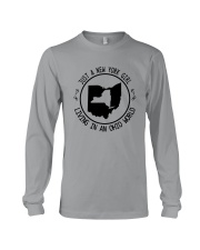 NEW YORK GIRL LIVING IN OHIO WORLD Long Sleeve Tee tile