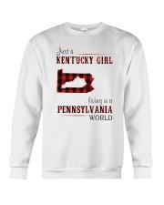 JUST A KENTUCKY GIRL IN A PENNSYLVANIA WORLD Crewneck Sweatshirt thumbnail