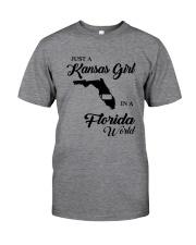 JUST A KANSAS GIRL IN A FLORIDA WORLD Classic T-Shirt thumbnail