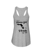 JUST A KANSAS GIRL IN A FLORIDA WORLD Ladies Flowy Tank thumbnail