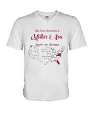 FLORIDA VIRGINIA THE LOVE MOTHER AND SON V-Neck T-Shirt thumbnail