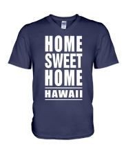 HOME SWEET HOME HAWAII V-Neck T-Shirt tile