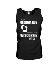 JUST A GEORGIA GUY IN A WISCONSIN WORLD Unisex Tank thumbnail