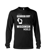 JUST A GEORGIA GUY IN A WISCONSIN WORLD Long Sleeve Tee thumbnail