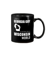 JUST A GEORGIA GUY IN A WISCONSIN WORLD Mug thumbnail
