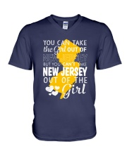 YOU CAN'T TAKE NEW JERSEY OUT OF THE GIRL V-Neck T-Shirt thumbnail
