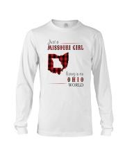 JUST A MISSOURI GIRL IN AN OHIO WORLD Long Sleeve Tee thumbnail