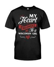 MY HEART BELONGS TO A WISCONSIN GIRL Classic T-Shirt front