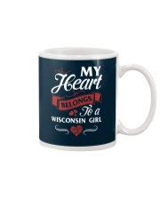 MY HEART BELONGS TO A WISCONSIN GIRL Mug thumbnail