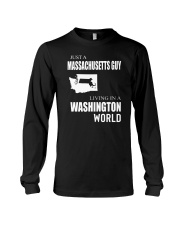 JUST A MASSACHUSETTS GUY IN A WASHINGTON WORLD Long Sleeve Tee tile
