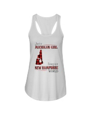 JUST A MICHIGAN GIRL IN A NEW HAMPSHIRE WORLD Ladies Flowy Tank thumbnail