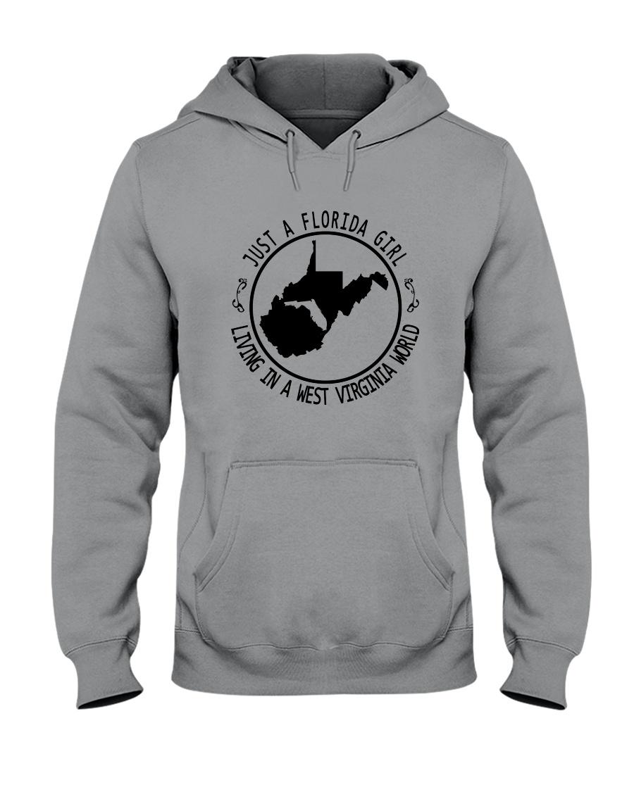 FLORIDA GIRL LIVING IN WEST VIRGINIA WORLD Hooded Sweatshirt