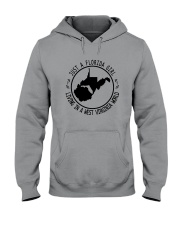 FLORIDA GIRL LIVING IN WEST VIRGINIA WORLD Hooded Sweatshirt front
