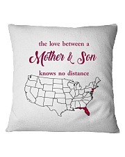 FLORIDA NEW JERSEY THE LOVE MOTHER AND SON Square Pillowcase thumbnail