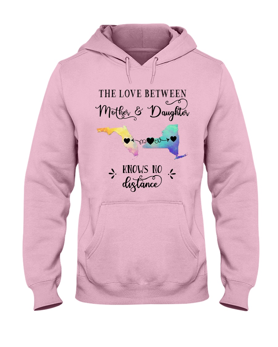 FLORIDA NEW YORK THE LOVE MOTHER AND DAUGHTER Hooded Sweatshirt