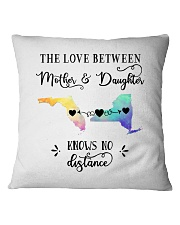 FLORIDA NEW YORK THE LOVE MOTHER AND DAUGHTER Square Pillowcase thumbnail