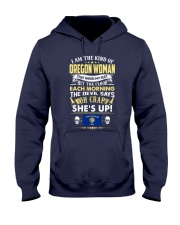 I AM THE KIND OF OREGON WOMAN Hooded Sweatshirt tile