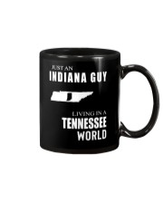 JUST AN INDIANA GUY IN A TENNESSEE WORLD Mug tile