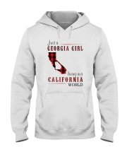 JUST A GEORGIA GIRL IN A CALIFORNIA WORLD Hooded Sweatshirt front