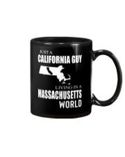 JUST A CALIFORNIA GUY IN A MASSACHUSETTS WORLD Mug thumbnail