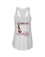 JUST A CALIFORNIA GIRL IN A DELAWARE WORLD Ladies Flowy Tank thumbnail