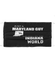 JUST A MARYLAND GUY IN AN INDIANA WORLD Cloth face mask thumbnail