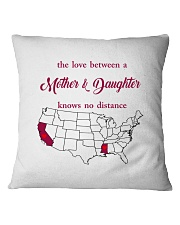 CALIFORNIA MISSISSIPPI - MOTHER AND DAUGHTER Square Pillowcase thumbnail