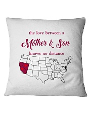 CALIFORNIA NEVADA THE LOVE MOTHER AND SON Square Pillowcase thumbnail