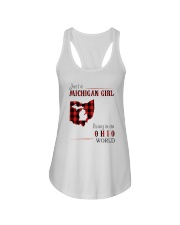 JUST A MICHIGAN GIRL IN AN OHIO WORLD Ladies Flowy Tank thumbnail