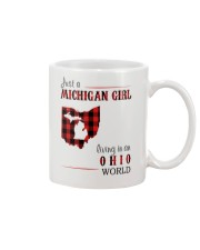 JUST A MICHIGAN GIRL IN AN OHIO WORLD Mug thumbnail