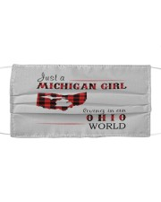 JUST A MICHIGAN GIRL IN AN OHIO WORLD Cloth face mask thumbnail