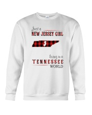 JUST A NEW JERSEY GIRL IN A TENNESSEE WORLD Crewneck Sweatshirt thumbnail
