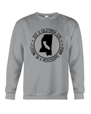 CALIFORNIA GIRL LIVING IN MISSISSIPPI WORLD Crewneck Sweatshirt thumbnail