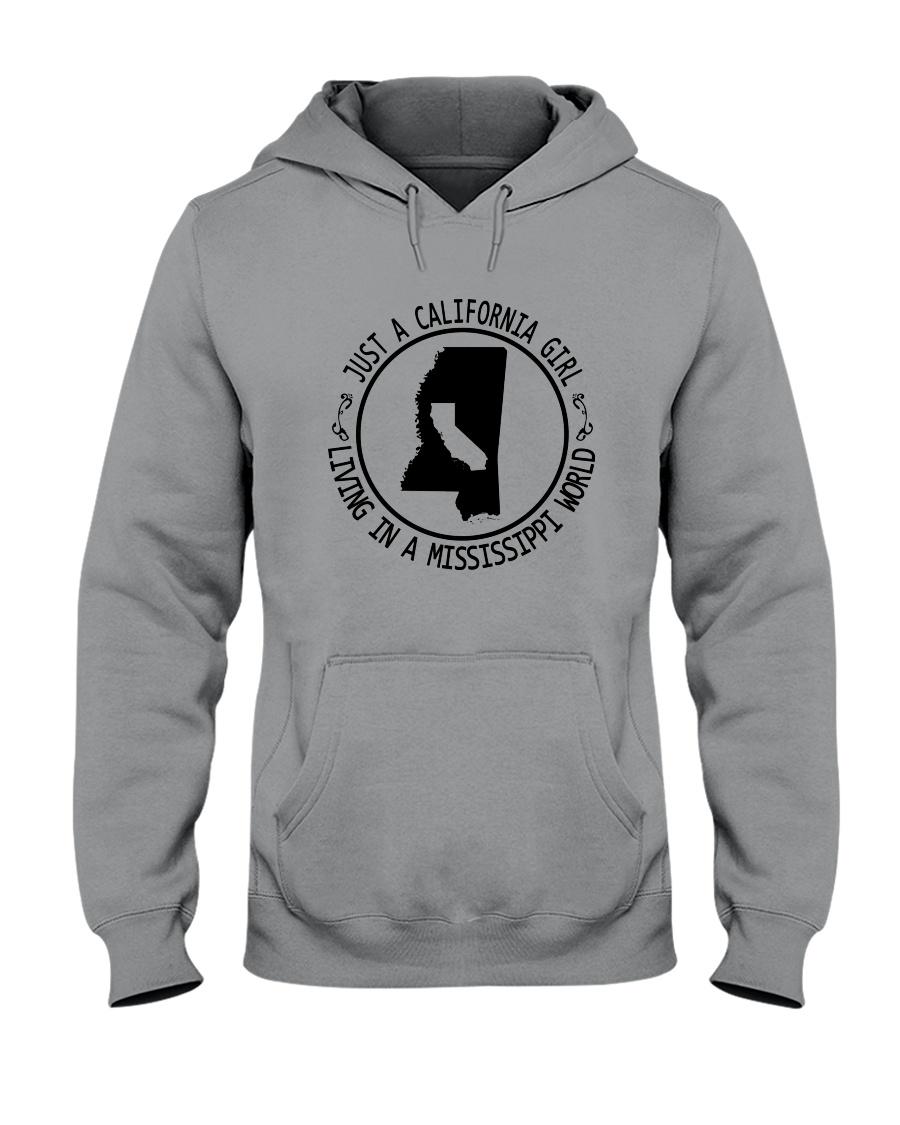 CALIFORNIA GIRL LIVING IN MISSISSIPPI WORLD Hooded Sweatshirt