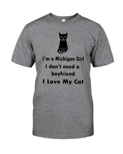 I'M A MICHIGAN GIRL - I LOVE MY CAT