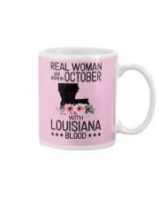 WOMAN BORN IN OCTOBER WITH LOUISIANA BLOOD Mug thumbnail