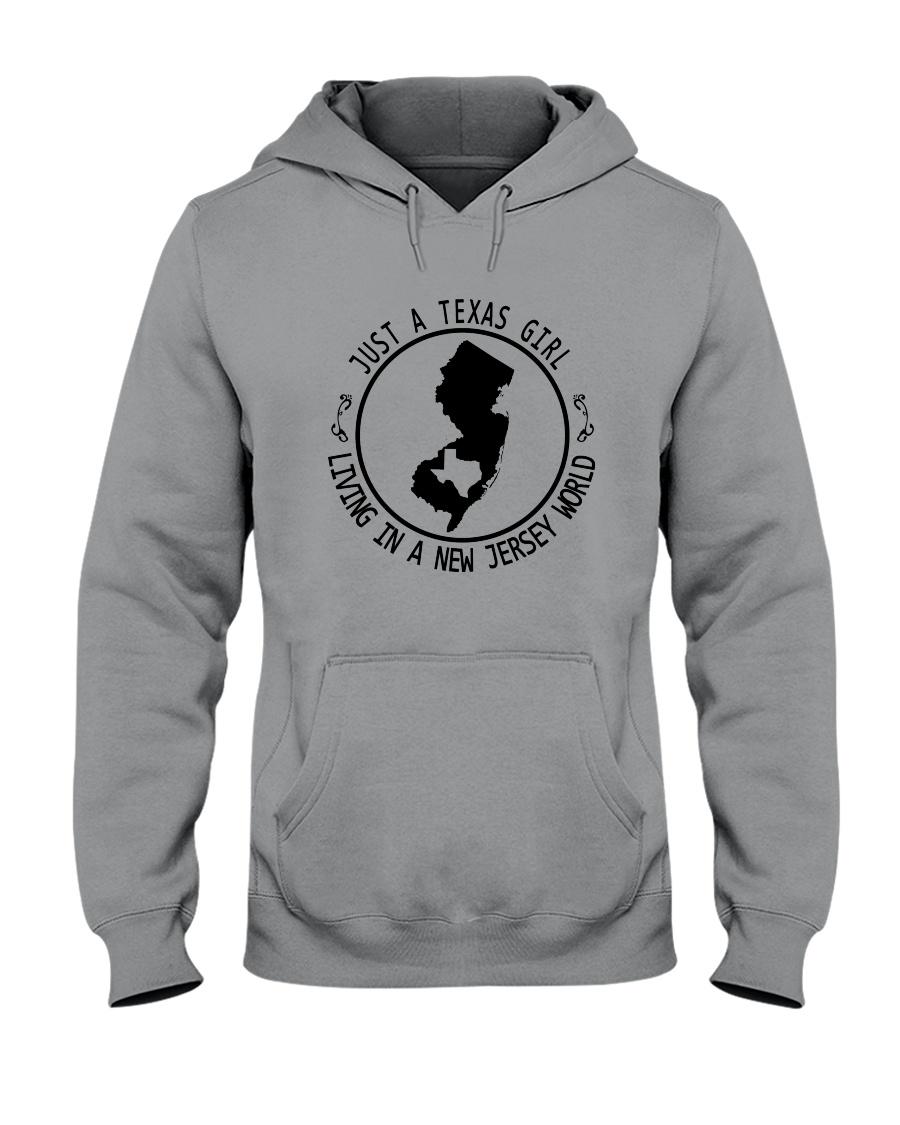 TEXAS GIRL LIVING IN NEW JERSEY WORLD Hooded Sweatshirt