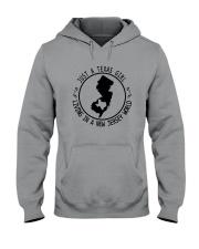 TEXAS GIRL LIVING IN NEW JERSEY WORLD Hooded Sweatshirt front