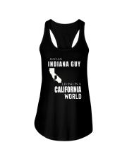 JUST AN INDIANA GUY IN A CALIFORNIA WORLD Ladies Flowy Tank thumbnail