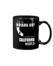 JUST AN INDIANA GUY IN A CALIFORNIA WORLD Mug thumbnail
