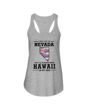 LIVE IN NEVADA BUT I'LL HAVE HAWAII IN MY DNA Ladies Flowy Tank thumbnail