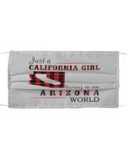 JUST A CALIFORNIA GIRL IN AN ARIZONA WORLD Cloth face mask thumbnail